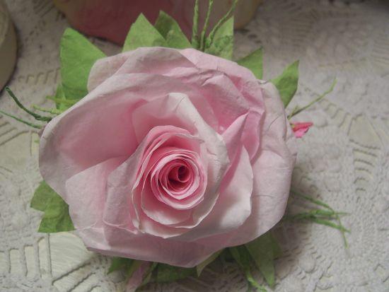 (RoseL) Paper Rose Clip