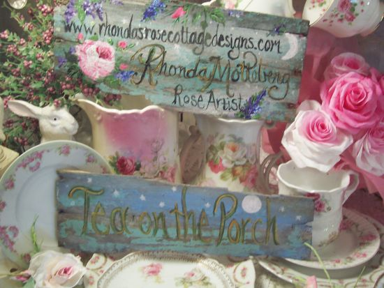 (TeaOnThePorch) Handpainted Sign