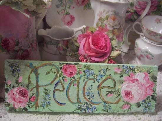 (Peace) Handpainted Sign
