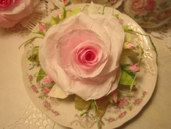 (LilyGraceM) Handmade Paper Rose Clip