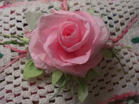 (AngellaRose) Paper Rose Clip
