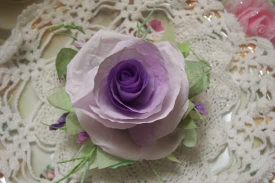 (WinonaRose) Paper Rose Clip
