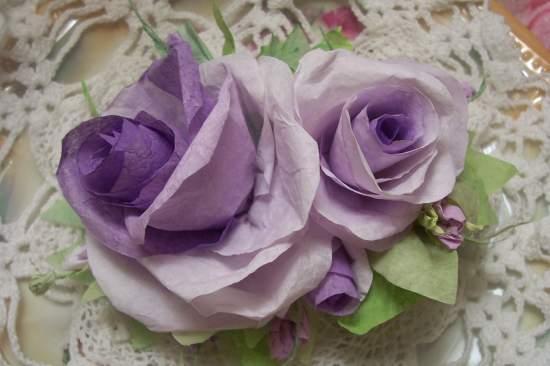 (ChippewaRose) Paper Rose Clip