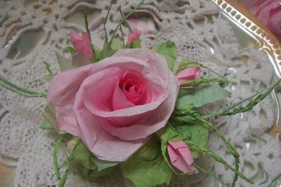 (JardinRosa) Paper Rose Clip