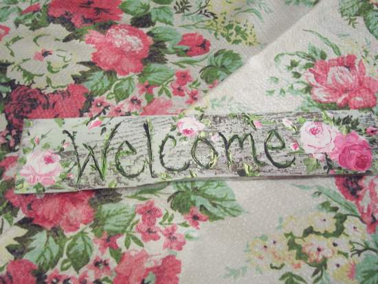 (Welcome101) Handpainted Sign